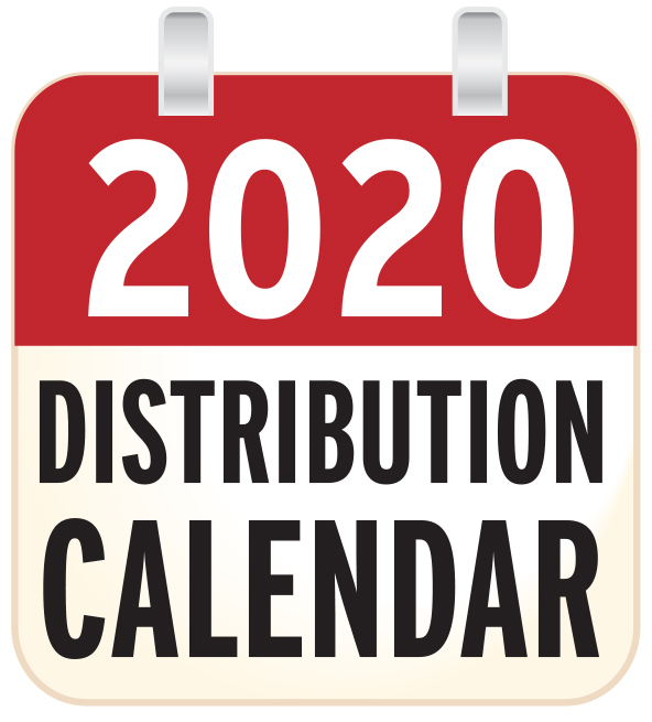 Distribution calendar 2020