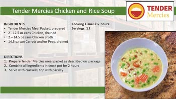 Tender Mercies Chicken and Rice Soup